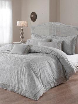 Постельное Белье VALERON SATIN JACQUARD 2 спальное MAXIMA серый