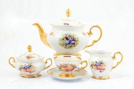 Чайный сервиз Sterne Porcelan ФРУКТЫ на 6 персон 15 предметов