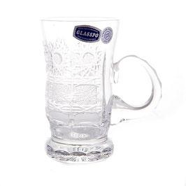 Набор хрустальных кружек для чая СНЕЖИНКА Glasspo 150 мл