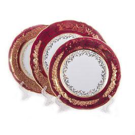 Набор тарелок для сервировки стола Carlsbad Лист Красный 18 штук
