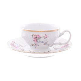 Набор для чая ЦВЕТЫ Bernadotte на 6 персон 12 предметов