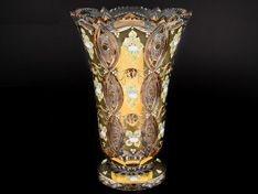 ХРУСТАЛЬ С ЗОЛОТОМ ваза для цветов 35 см