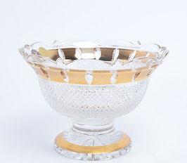 Хрустальная ваза для конфет Bohemia Cristal ЗОЛОТАЯ ПОЛОСА 20 см