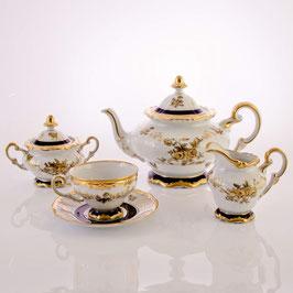 Немецкий чайный сервиз Weimar АННА АМАЛИЯ на 6 персон 21 предмет ( артикул МН 27959 В )