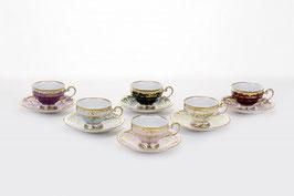 Набор для кофе мокко Weimar ЮВЕЛ Калорс на 6 персон 12 предметов ( артикул МН 29847 В )