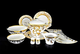Столовый сервиз Falkenporzellan TOSCA WHITE GOLD на 6 персон 26 предметов