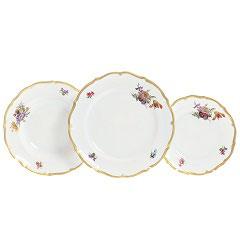 Набор тарелок для сервировки Queens Crown МЕЙСЕНСКИЙ БУКЕТ 18 штук