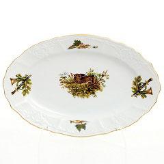 Блюдо овальное ОХОТА Bernadotte 34 см