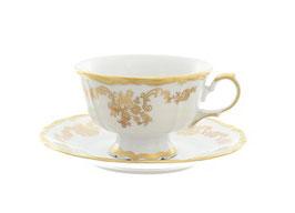 Набор для чая Queens Crown ЗОЛОТОЙ ОРНАМЕНТ на 6 персон 12 предметов