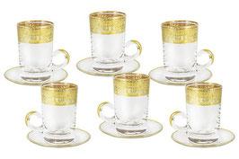 Хрустальный набор для чая Same ИМПЕРИЯ на 6 персон 12 предметов