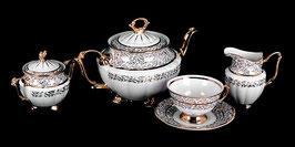 Чайный сервиз Carlsbad ЛИСТ БЕЛЫЙ на 6 персон 15 предметов