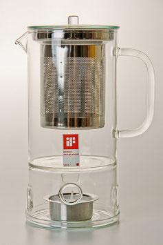 Заварочный чайник с подогревателем и  ситом Trendglas 750 мл