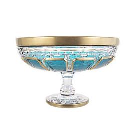 Хрустальная ваза для фруктов Arnstadt АНТИК БИРЮЗА 25 см