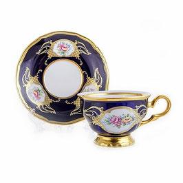 Набор ля чая Moritz Zdekalier КОБАЛЬТ на 6 персон 12 предметов