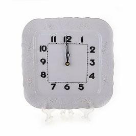 Часы настенные квадратные Bernadotte ПЛАТИНОВЫЙ ОБОДОК 26 см