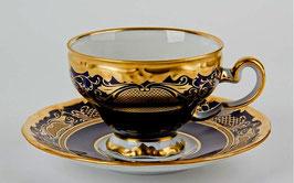 Набор для чая Weimar СИМФОНИЯ ЗОЛОТАЯ КОБАЛЬТ на 6 персон 12 предметов ( артикул МН 4317 В )