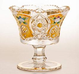 ХРУСТАЛЬ С ЗОЛОТОМ ваза для варенья 12 см