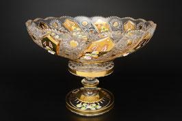 ХРУСТАЛЬ С ЗОЛОТОМ ваза для фруктов 35 см