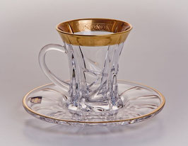 Набор для чая Bohemia Crystal САФАРИ ГОЛД на 6 персон 12 предметов