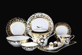 Столовый сервиз Falkenporzellan TOSCA BLACK GOLD на 6 персон 26 предметов