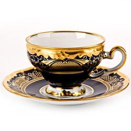Набор для кофе Weimar СИМФОНИЯ ЗОЛОТАЯ КОБАЛЬТ на 6 персон 12 предметов ( артикул МН 30170 В )