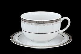 Набор для чая Thun ОПАЛ ПЛАТИНА на 6 персон 12 предметов