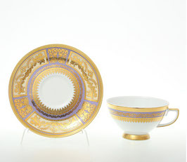 Набор для чая Falkenporzellan DIADEM VIOLET CREM GOLD на 6 персон 12 предметов