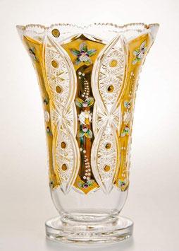 ХРУСТАЛЬ С ЗОЛОТОМ ваза для цветов 30,5 см
