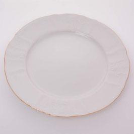 Набор постановочных тарелок Bernadotte ЗОЛОТОЙ ОБОДОК 25 см