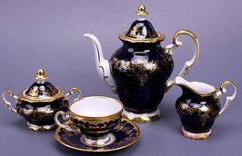 Немецкий кофейный сервиз Weimar ЮВЕЛ СИНИЙ на 6 персон 15 предметов ( артикул МН 3810 В )