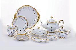 Немецкий чайный сервиз Weimar МЕЙСЕНСКИЙ ЦВЕТОК на 12 персон 54 предмета ( артикул МН 32108 В )