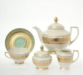 Чайный сервиз Falkenporzellan AGADIR SELADON на 6 персон 15 предметов