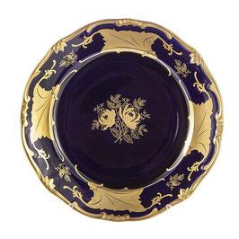 Набор закусочных тарелок Weimar КЛЕНОВЫЙ ЛИСТ СИНИЙ 22 см ( артикул МН 35078 В )