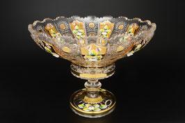 ХРУСТАЛЬ С ЗОЛОТОМ ваза для фруктов 30 см