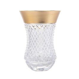 Набор хрустальных стаканов для чая армуда Glasspo Фелиция 170 мл