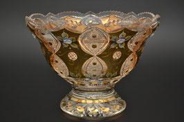 ХРУСТАЛЬ С ЗОЛОТОМ ваза для конфет 25,5 см