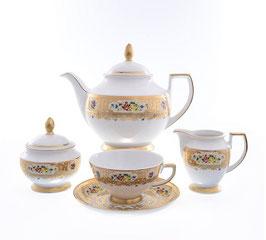 Чайный сервиз Falkenporzellan VIENNA CREME GOLD на 6 персон 15 предметов