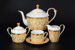 Чайный сервиз Falkenporzellan RIALTO CREME GOLD на 6 персон 15 предметов