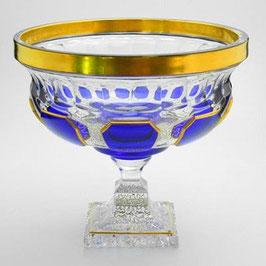 Хрустальная ваза для фруктов ARNSTADT АНТИК СИНИЙ 24 см ( артикул МН 1173 В )