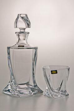 Набор для виски КВАДРО Прозрачный  Bohemia Crystal 7 предметов