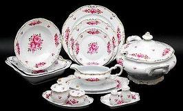 Немецкий столовый сервиз Weimar РОЗА Розовая на 6 персон 30 предметов ( артикул МН 10657 В )