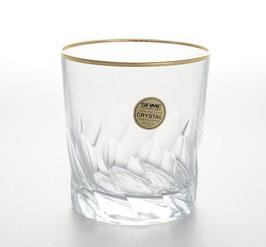 Набор хрустальных стаканов для виски Same ПАЛЕРМО ЗОЛОТО 300 мл