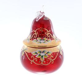 Ваза для конфет Star Cristal ЛЕПКА СМАЛЬТА КРАСНАЯ ГРУША 20,5 см