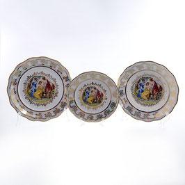 Набор тарелок для сервировки стола МАДОННА Queens Crown 18 штук