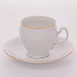 Набор для чая Bernadotte ЗОЛОТОЙ ОБОДОК на 6 персон 12 предметов