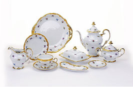 Немецкий чайный сервиз Weimar МЕЙСЕНСКИЙ ЦВЕТОК на 6 персон 30 предметов ( артикул МН 29124 В )