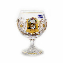 Набор бокалов для бренди Glasspo ХРУСТАЛЬ С ЗОЛОТОМ 250 мл