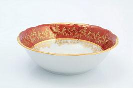 Набор салатников Sterne Porcelan ЛИСТ КРАСНЫЙ 19 см