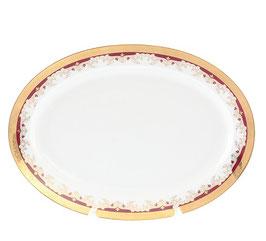 Блюдо овальное Thun КРАСНАЯ ЛИЛИЯ 39 см