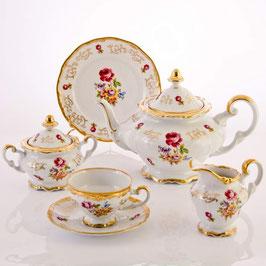 Немецкий чайный сервиз Weimar САНКТ - ПЕТЕРБУРГ на 6 персон 21 предмет ( артикул МН 30196 В )